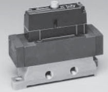 Pilot-operated solenoid valve / 4-way / for natural gas / air