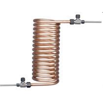 Oil cooler / for samples / tubular