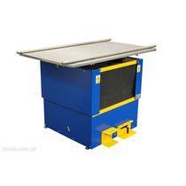 Column type lift table / foot-operated / pneumatic / with turntable
