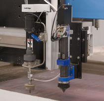 Pneumatic drilling unit / for water-jet cutting machines