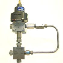 Pneumatic valve / pressure-control / for water-jet cutting machines / low-pressure