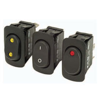 Rocker switch / single-pole / LED / plug-in