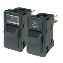Rocker switch / single-pole / LED-illuminated / electromechanical
