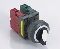 Selector push-button switch / 2-pole / momentary / electromechanical