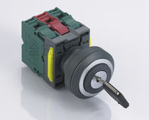 Key lock push-button switch / 3-position / electromechanical / IP67