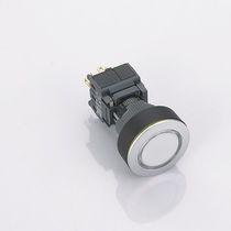 Round push-button switch / SPDT / plastic / momentary