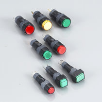 Single-pole push-button switch / miniature / electromechanical / waterproof