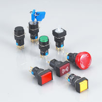 Single-pole push-button switch / micro / electromechanical