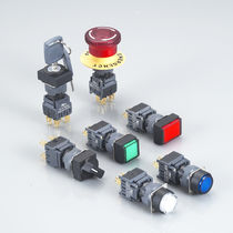2-pole push-button switch / momentary / electromechanical / waterproof