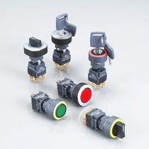 Key lock push-button switch / 2-pole / electromechanical / watertight