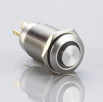 Single-pole push-button switch / standard / stainless steel / electromechanical