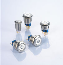 Single-pole push-button switch / standard / custom / stainless steel