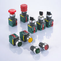 Single-pole push-button switch / momentary / emergency stop / electromechanical