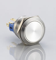 Single-pole push-button switch / non-illuminated / momentary / flat