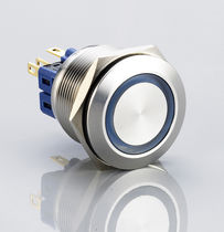 Single-pole push-button switch / electromechanical / momentary / waterproof