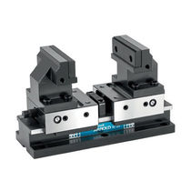 Machine tool vise / steel / self-centering / compact