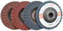 Synthetic fiber abrasive disc / for finishing / non-woven / for wood