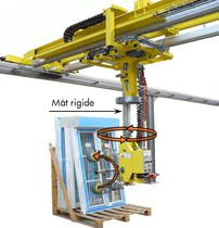 Manipulator with suction cup / for glazing / glass / hanging