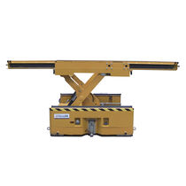 Scissor lift table / hydraulic / battery-powered / mobile
