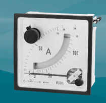 Analog ammeter / panel-mount / with maximeter