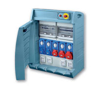 Equipped electrical enclosure / modular / with electrical socket / for construction sites