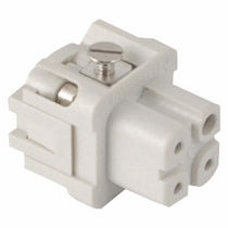 Electric connector / rectangular / screw / female