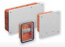 Aluminum junction box / IP40 / flush-mount / with knockouts