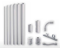 Flexible conduit / PVC-coated / protective / halogen-free