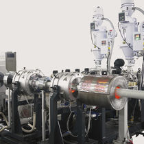Tube extrusion line / for thermoplastics / for composite pipes / for high-pressure pipelines