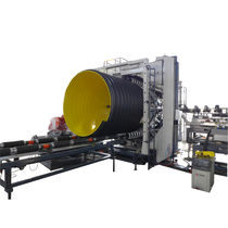 Tube extrusion line / for thermoplastics / for steel-plastic composites / 3-layer