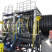 Tube extrusion line / for steel-plastic composites / 3-layer / for composite pipes