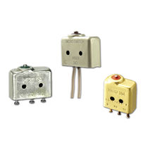 Snap-action switch / 2-pole / single-pole / compact