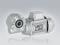 Worm electric gearmotor / brushless / AC / hollow-shaft