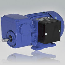 Three-phase electric gearmotor / single-phase / coaxial / worm