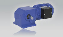 Three-phase electric gearmotor / single-phase / orthogonal / worm