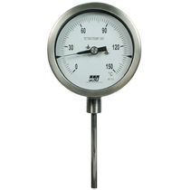 Dial thermometer / gas expansion with capillary / insertion / industrial