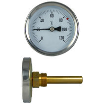 Dial thermometer / bimetallic / insertion / industrial