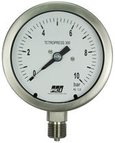 Pressure gauge / liquid-filled Bourdon tube / analog / process / stainless steel