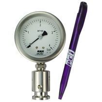 Pressure gauge / Bourdon tube / analog / for hygienic applications / with diaphragm seal