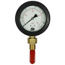 Pressure gauge / liquid-filled Bourdon tube / analog / IP65 / for concrete
