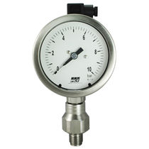 Analog pressure gauge / process / stainless steel / with electrical contact