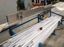 Cable duct extrusion line / profile / for PVC / twin-screw