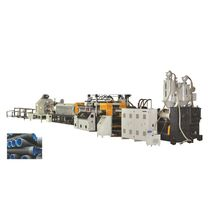 Double-wall corrugated pipe extrusion line / for PP / for HDPE / multilayer