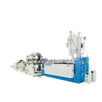 Double-wall corrugated pipe extrusion line / for PP / for PE / multilayer