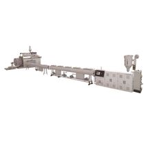 Hollow-wall pipe extrusion line / for tubes / for HDPE / with water cooling
