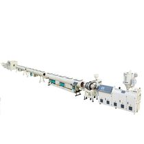 Tube extrusion line / for PE / multilayer / for drainage pipes