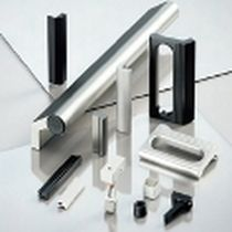 Fold-down handle / front panel / die-cast zinc / plastic