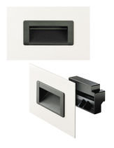 Recessed handle / door / plastic / ergonomic