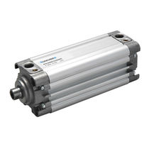 Pneumatic cylinder / single-acting / compact / standard