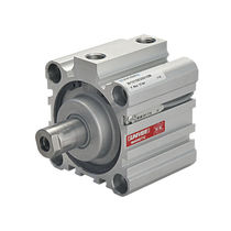 Pneumatic cylinder / double-acting / short-travel
